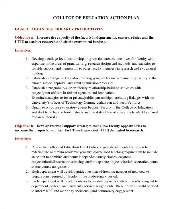 Student Action Plan template - 8+ Free Word, PDF Format Download