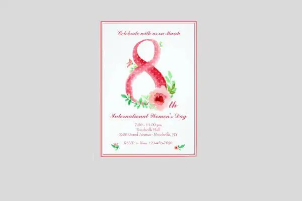 11+ Women\u0027s Day Invitation Templates - PSD, AI, EPS Free  Premium - 's day party invitation