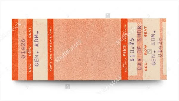 8+ Sports Ticket Templates - Free PSD, AI, Vector EPS Format - admit one ticket template