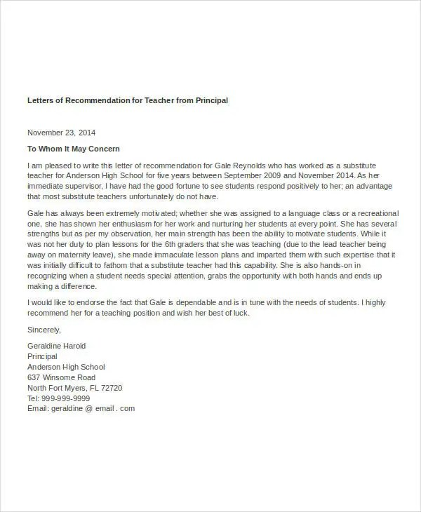 letter of recommendation for teaching position - Minimfagency