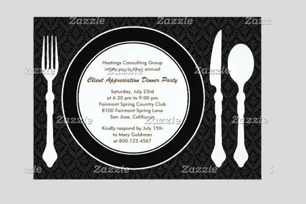 11+ Corporate Invitation Templates Free \ Premium Design - dinner invitation template