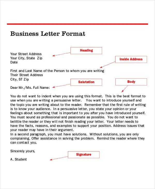 business letter format template - Jolivibramusic