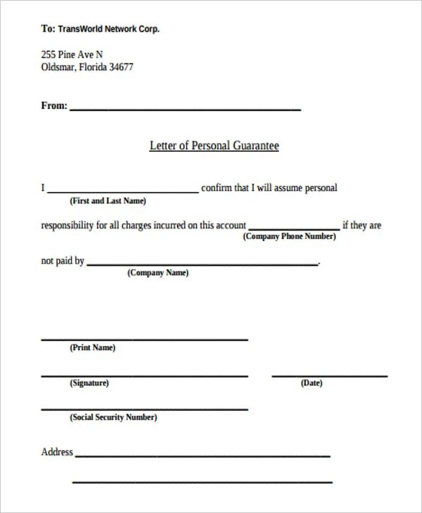 14+ Guarantee Letter Templates - Free Word, PDF Format Download