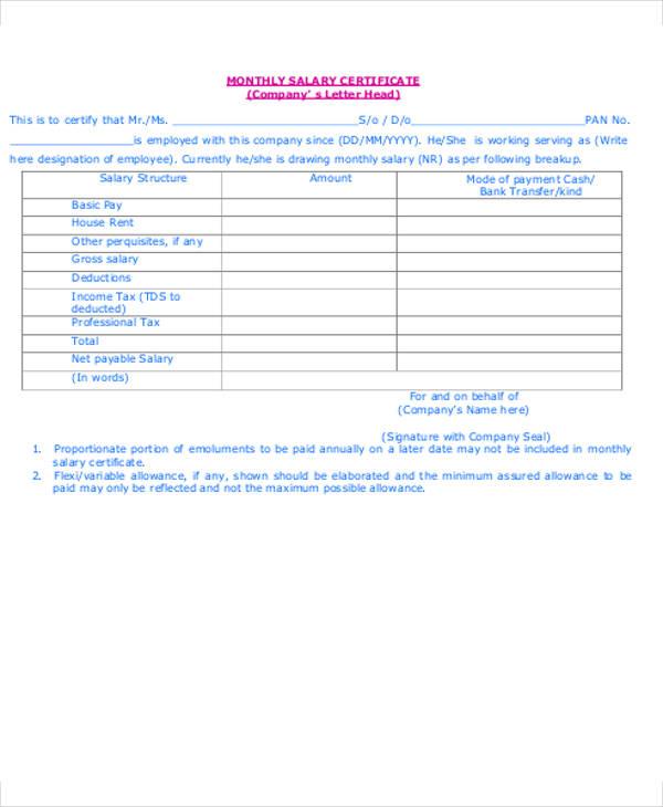 sample of salary letter - Bire1andwap