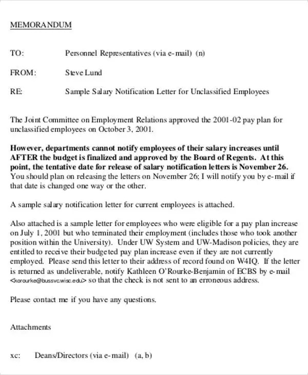 Salary Letter Templates - 5+ Free Sample, Example Format Download - sample of salary letter