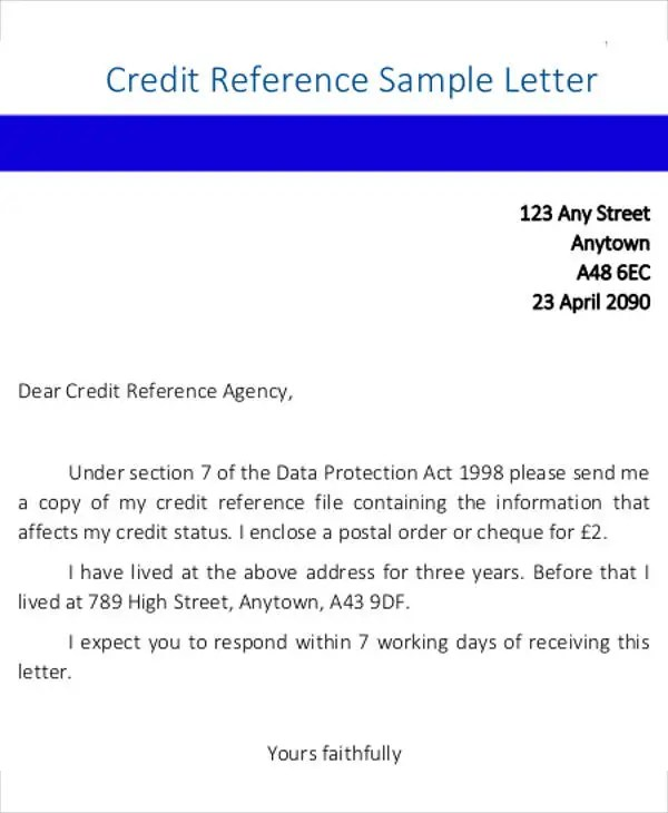 Credit Letter Templates - 7+ Free PDF, Word, Google Docs, Apple