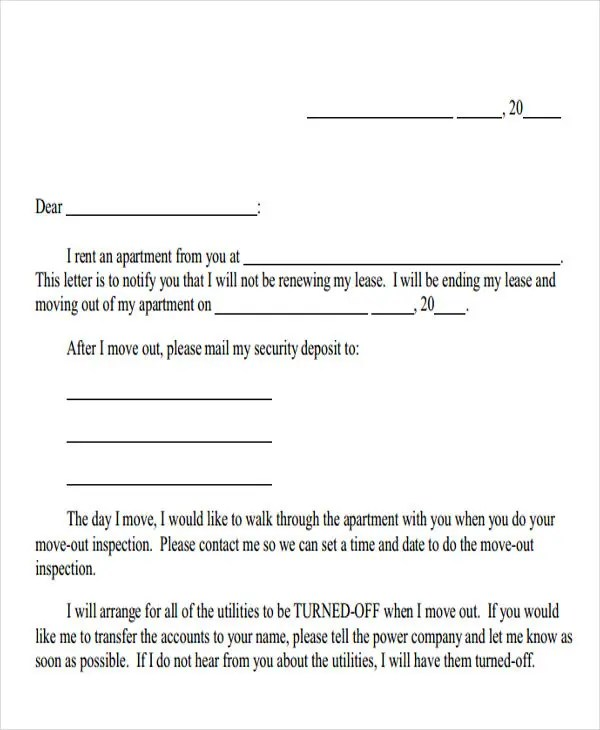 Landlord Letter Templates - 5+ Free Sample, Example Format Download - what is a lease between landlord and tenant