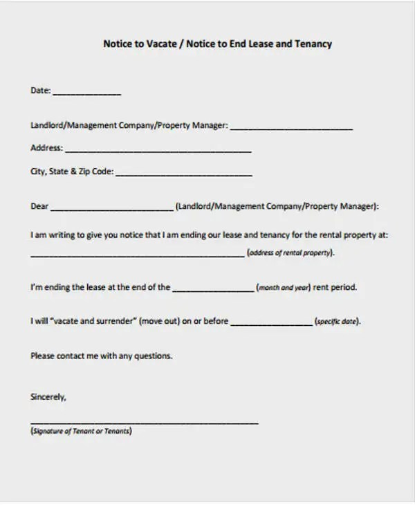 Lease Letter Templates - 8+ Free Sample, Example Format Download - lease letter sample