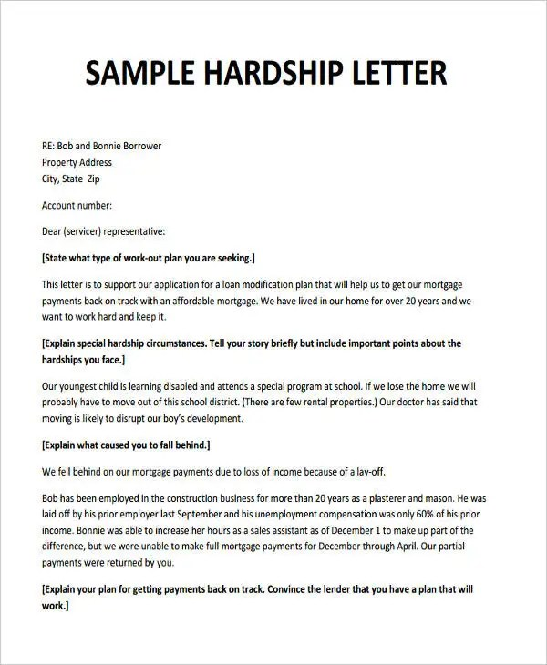 6+ Hardship Letter Templates - 6 +Free Sample, Example, Format - hardship letter template