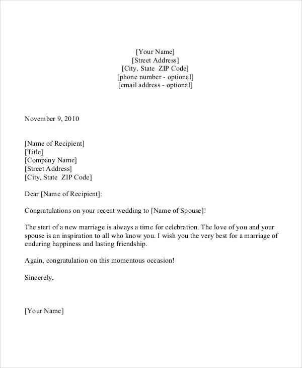 Congratulation Letter Template - 9+ Free Sample, Example Format - congratulations award template