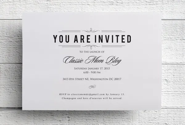 Formal Invitation Template Sample Wedding Invitation Template - invitation event sample
