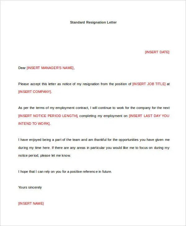 Resignation Letter Template Monster  Sample Of Resume For Hotel Job