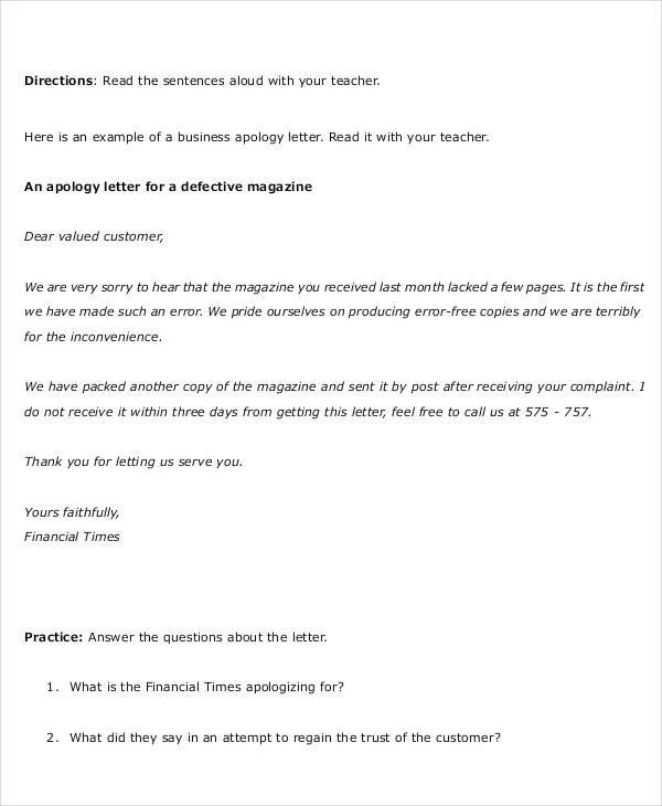 32+ Formal Letter Templates - PDF, DOC Free  Premium Templates