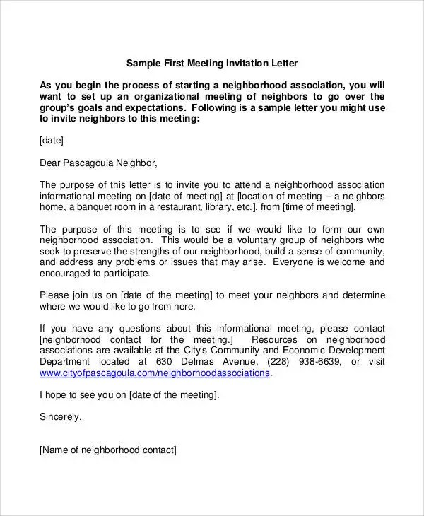Invitation Letter Formal For Meeting 32+ Formal Letter Templates - Pdf, Doc | Free & Premium