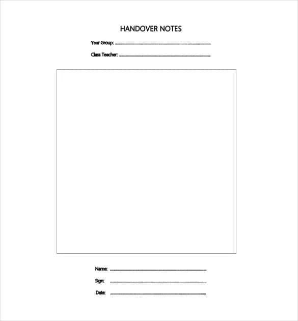 26+ Handover Report Templates - PDF, DOC Free  Premium Templates