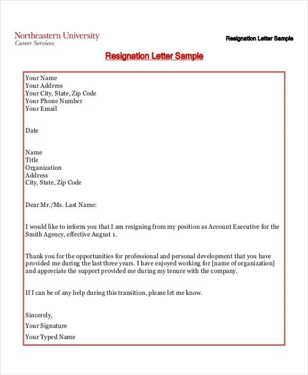 35+ Resignation Letter Examples Free \ Premium Templates - simple resignation letter example