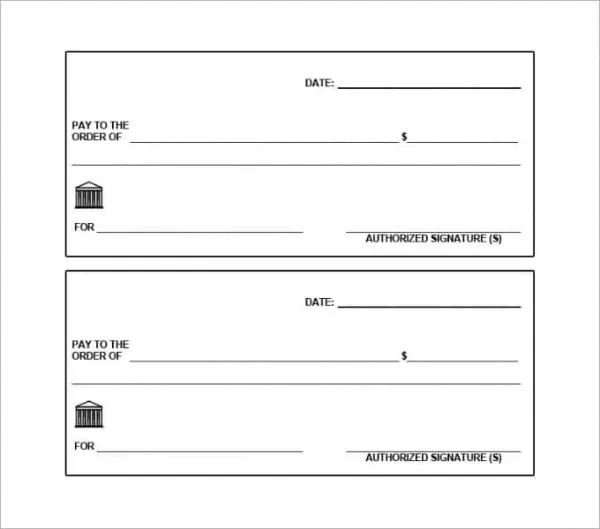 business check printing template word