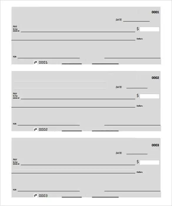 24+ Blank Check Template - DOC, PSD, PDF  Vector Formats Free