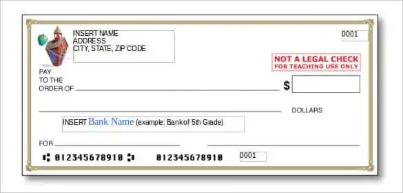 cheque copy template - Josemulinohouse - cheque receipt format