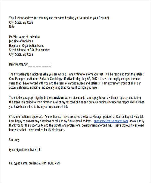 32+ Resignation Letters in PDF Free \ Premium Templates - immediate resignation letter