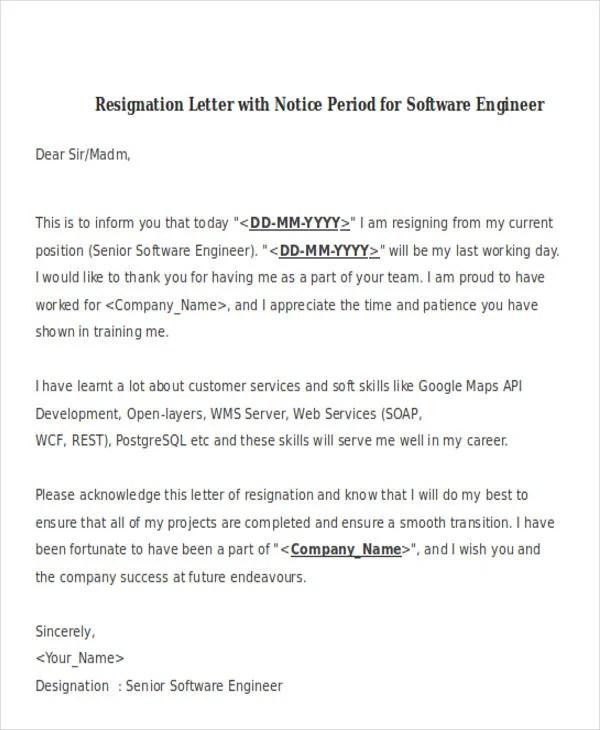 31+ Resignation Letter Format - PDF, DOC, iPage Free  Premium