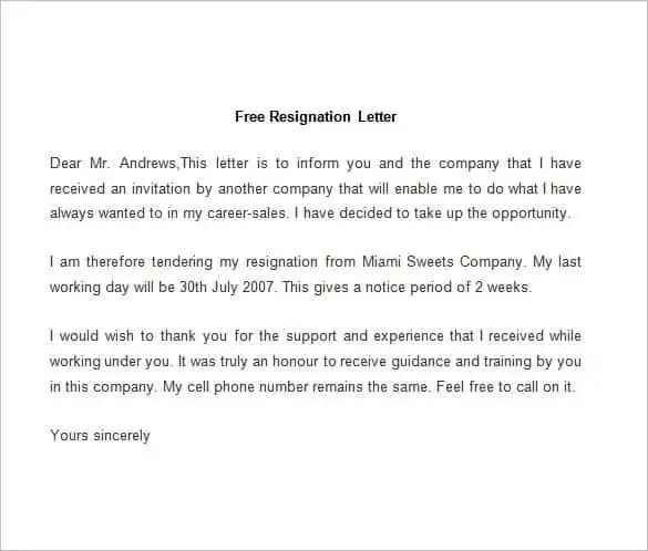 69+ Resignation Letter Template - Word, PDF, IPages Free  Premium - writing a resignation letter