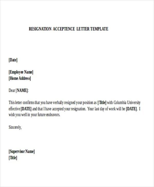 31+ Resignation Letter Format - PDF, DOC, iPage Free  Premium - employment resignation letter
