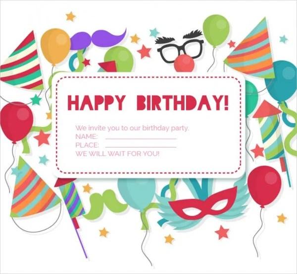 83+ Birthday Invitations - Word, PSD, AI, EPS Free  Premium Templates