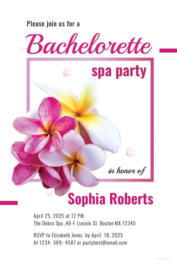 10+ Spa Party Invitations - Free Sample, Example, Format Download - spa invitation
