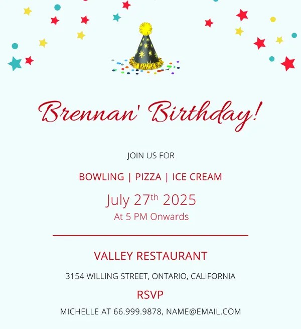 Birthday Invitation Format Templates Free  Premium Templates