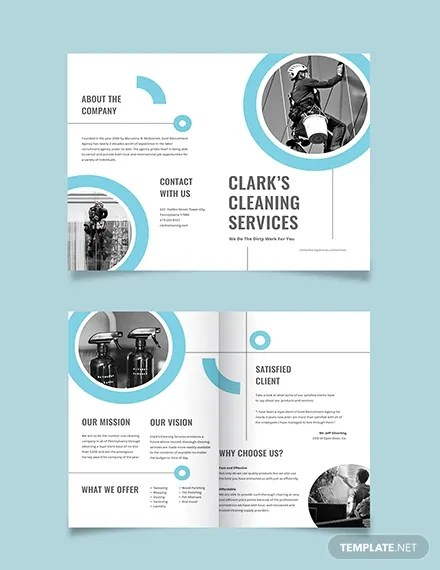 10 Cleaning Company Brochures Templates