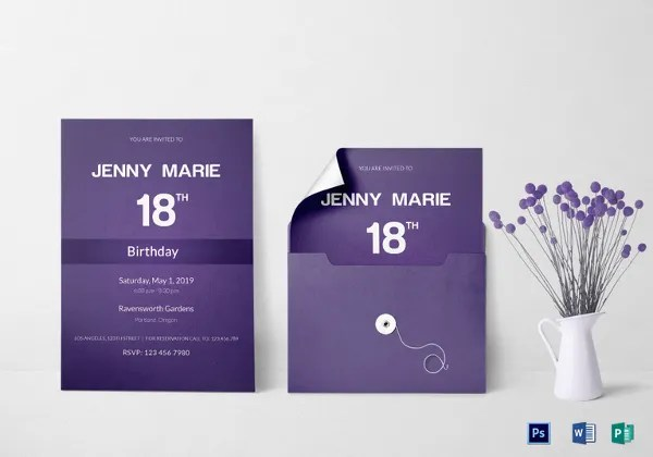 Event Invitation Template Free \ Premium Templates - event card template