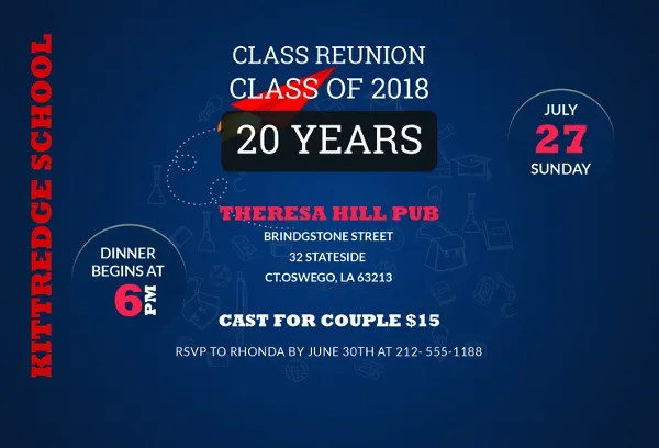 15+ Reunion Invitation Templates - PSD, AI Free  Premium Templates
