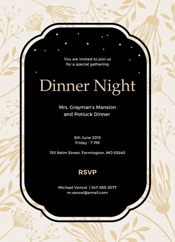 47+ Printable Dinner Invitation Templates Free  Premium Templates - free dinner invitation templates printable