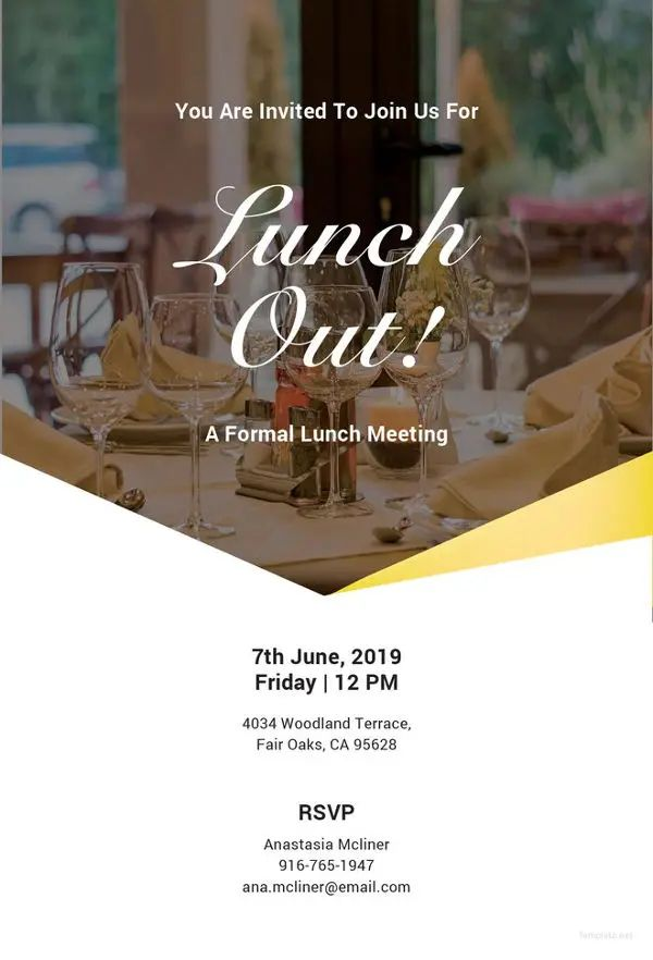 formal invitation for lunch