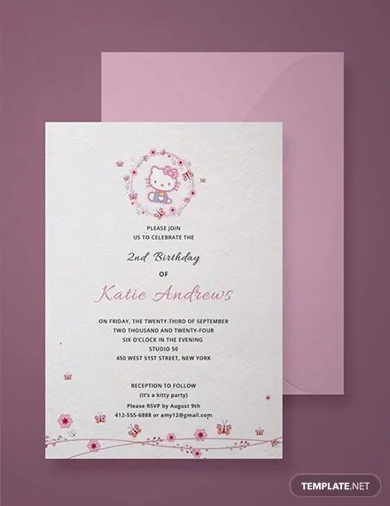 11+ Hello Kitty Photo Invitations - Word, PSD, InDesign, AI Free