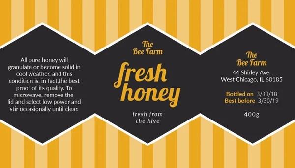 8+ Honey Jar Label Templates - PSD, Word, PDF Free  Premium Templates