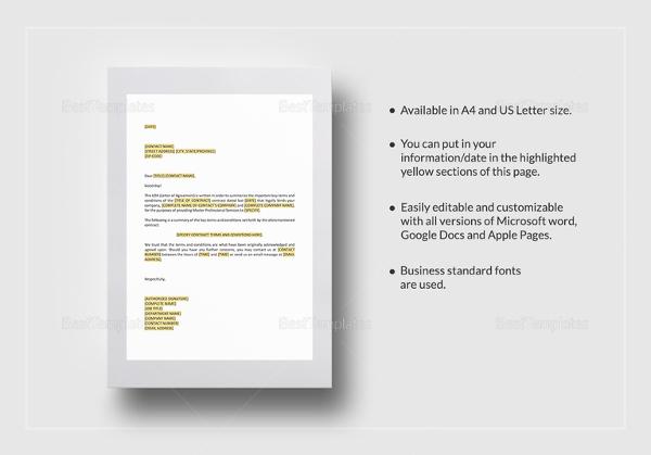 Master Service Agreement Template best 25 contract agreement – Format of Service Agreement