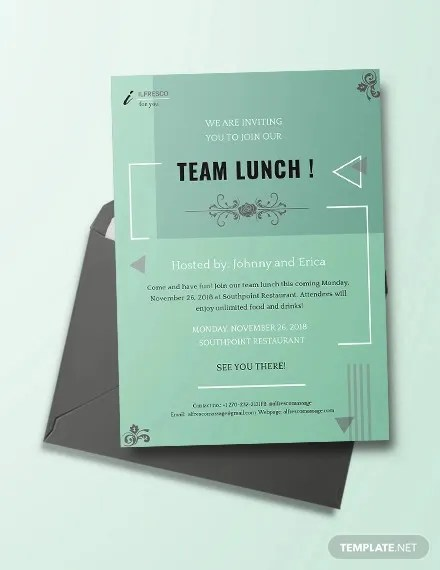 18+ Lunch Invitation Templates - PSD, AI, Word Free  Premium
