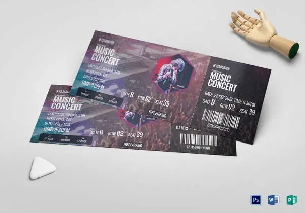 17+ Concert Ticket Templates - Free PSD, AI , Vector EPS Download - concert ticket invitations