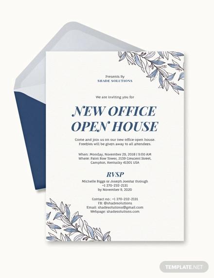 9+ Office Invitation Templates - PSD, AI, Word Free  Premium