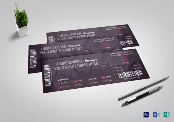 16+ Concert Ticket Templates - PSD, Vector EPS Free  Premium