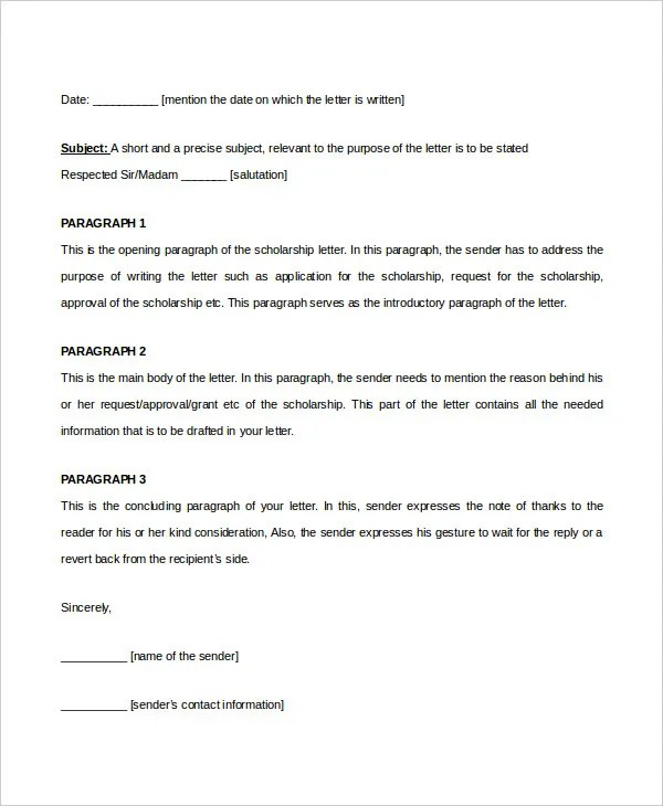 scholarship letters - Ozilalmanoof - Scholarship Contract Template
