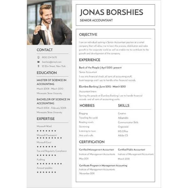 16+ Experienced Resume Format Templates - PDF, DOC Free  Premium