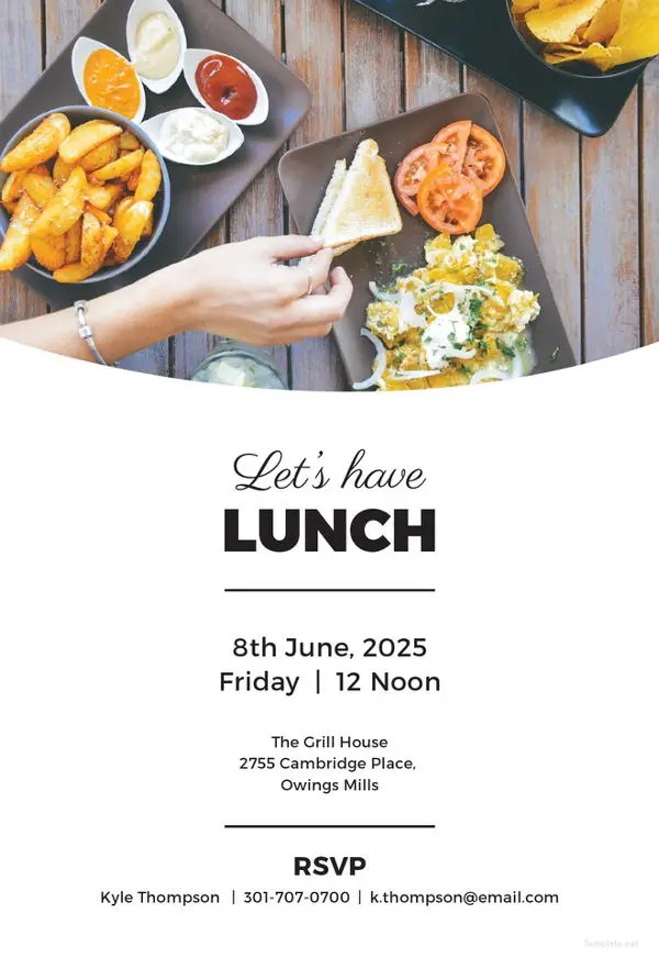 14+ Team Lunch Invitations - JPG, Vector EPS, Ai Illustrator - lunch invitation template