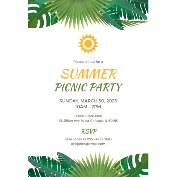 15+ Summer Party Invitations - Free Editable PSD, AI, Vector EPS - summer party invitation template free
