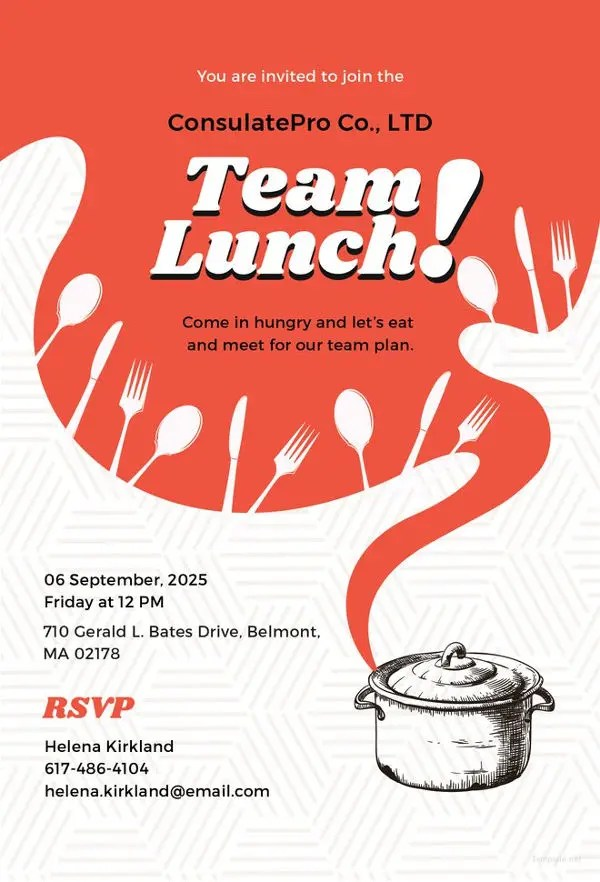 33+ Lunch Invitation Designs Free  Premium Templates - lunch invitation templates
