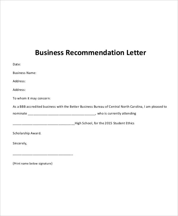 business letter recommendation - Onwebioinnovate - recommendation letter