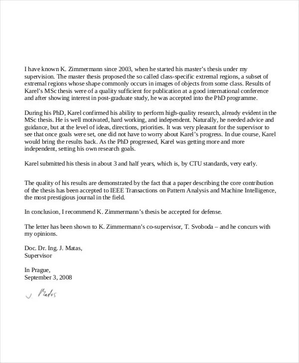 40+ Recommendation Letter Templates in PDF Free  Premium Templates