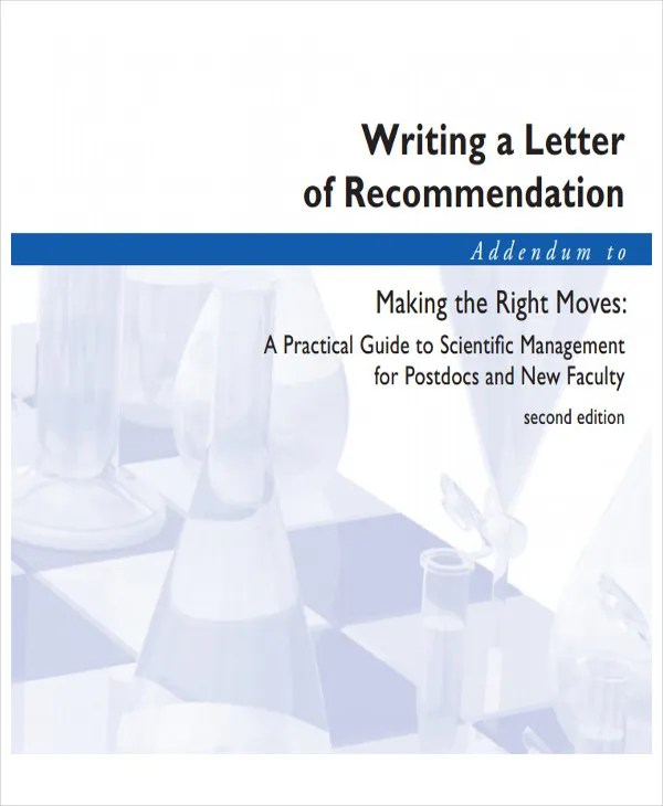 45+ Free Recommendation Letter Templates Free  Premium Templates - writing guidelines recommendation letter